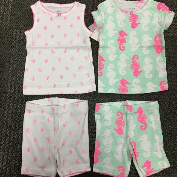 Carter's Other - Carters Seahorse PJ pajama sleep set 4 piece NWT